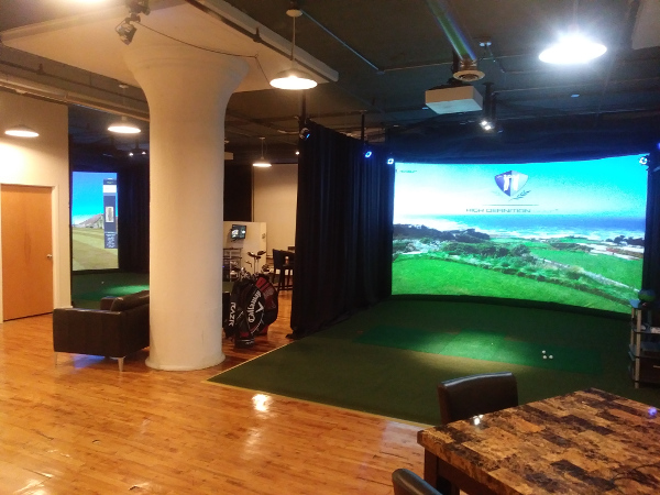 Golf Science Center Facility with HD Golf Simulator